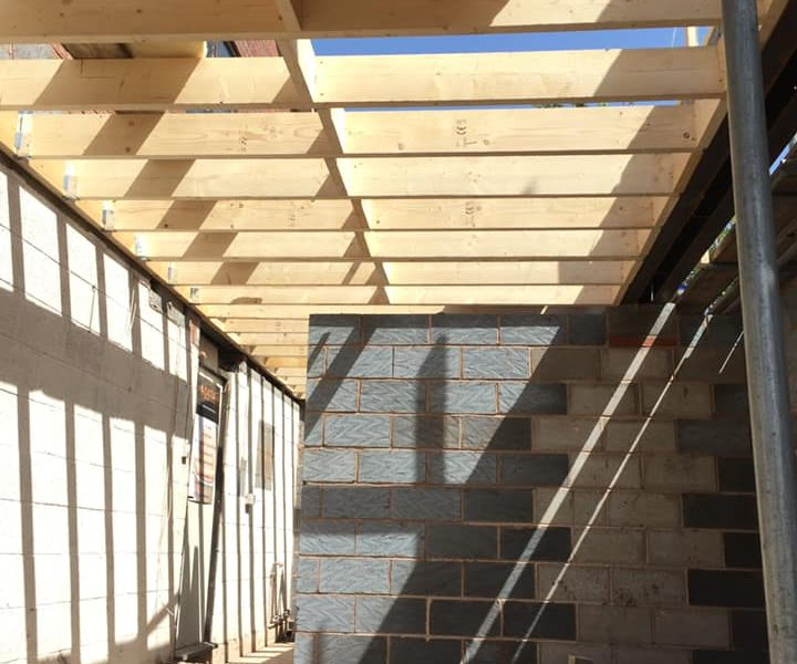 home extensions wooden beams